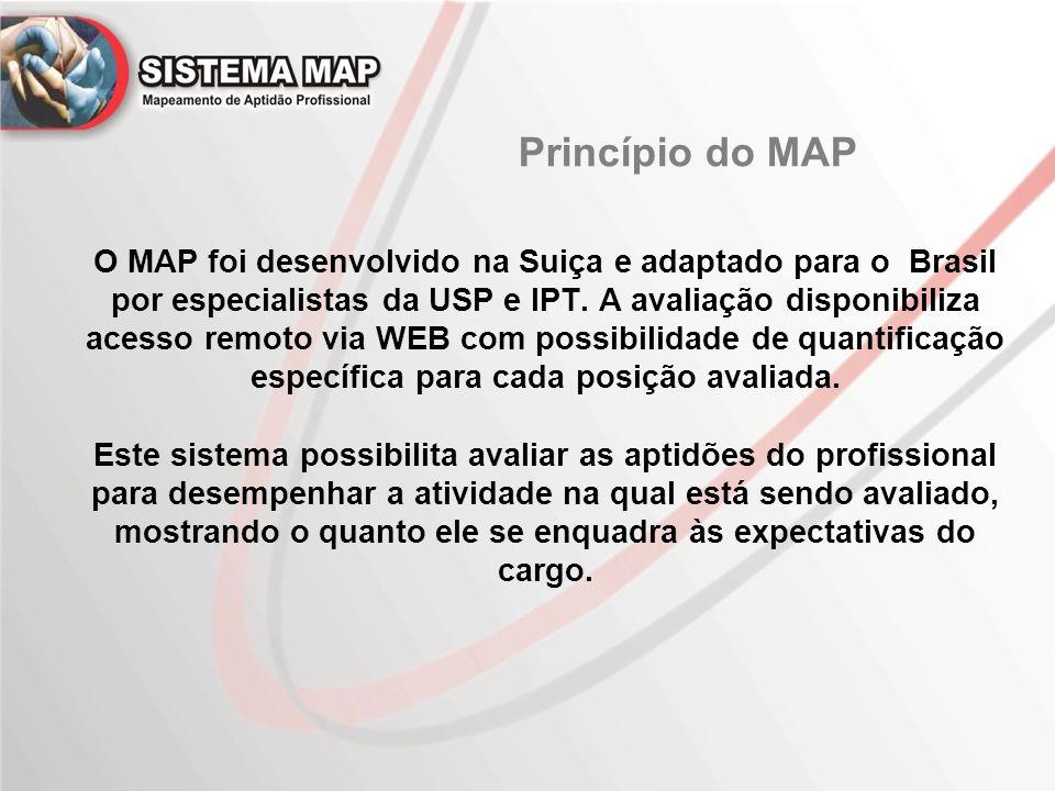 O MAP foi desenvolvido na Suiça e adaptado para o Brasil por especialistas da USP e IPT. A avaliação disponibiliza acesso remoto via WEB com possibili