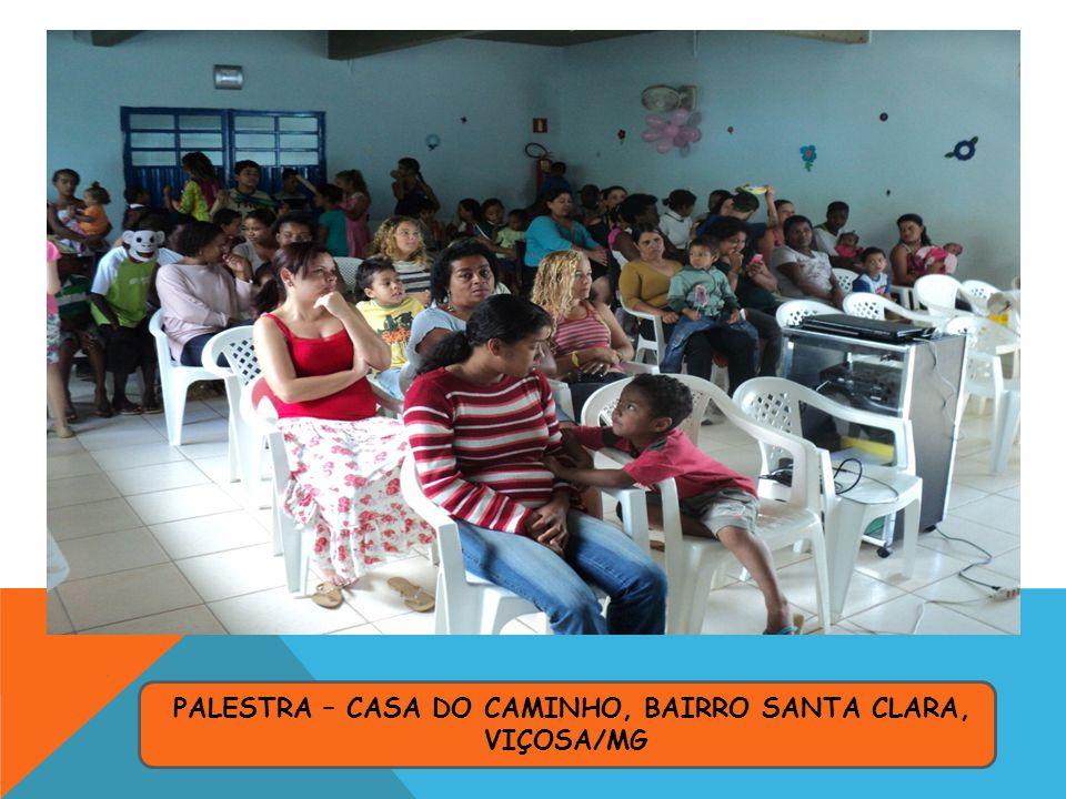 PALESTRA – CASA DO CAMINHO, BAIRRO SANTA CLARA, VIÇOSA/MG