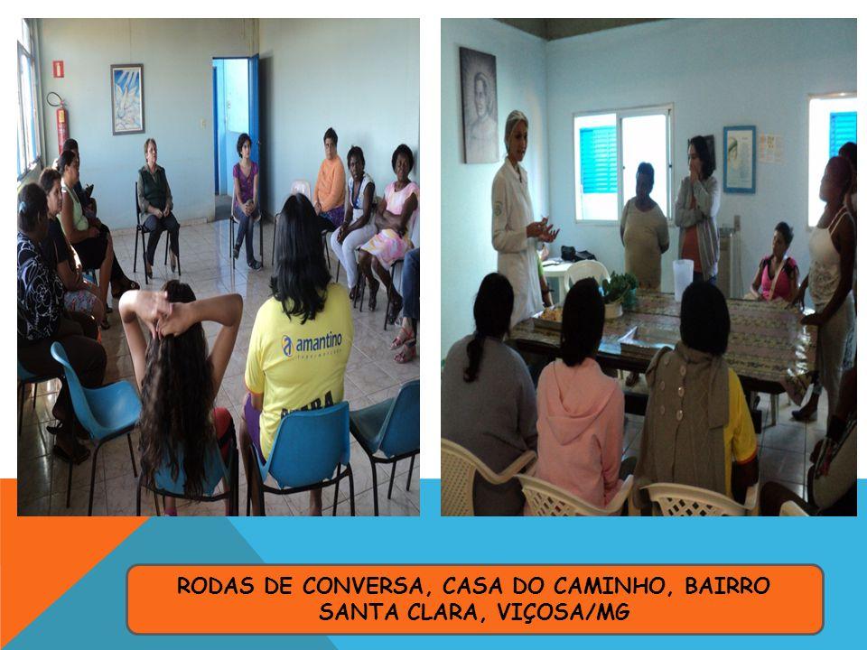 RODAS DE CONVERSA, CASA DO CAMINHO, BAIRRO SANTA CLARA, VIÇOSA/MG