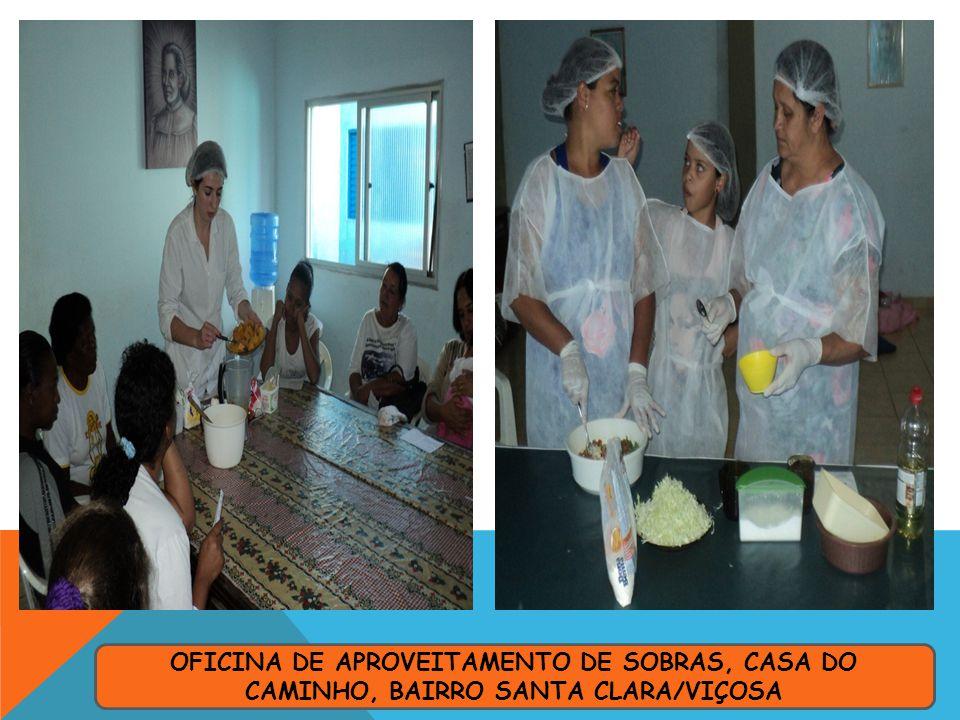 OFICINA DE APROVEITAMENTO DE SOBRAS, CASA DO CAMINHO, BAIRRO SANTA CLARA/VIÇOSA