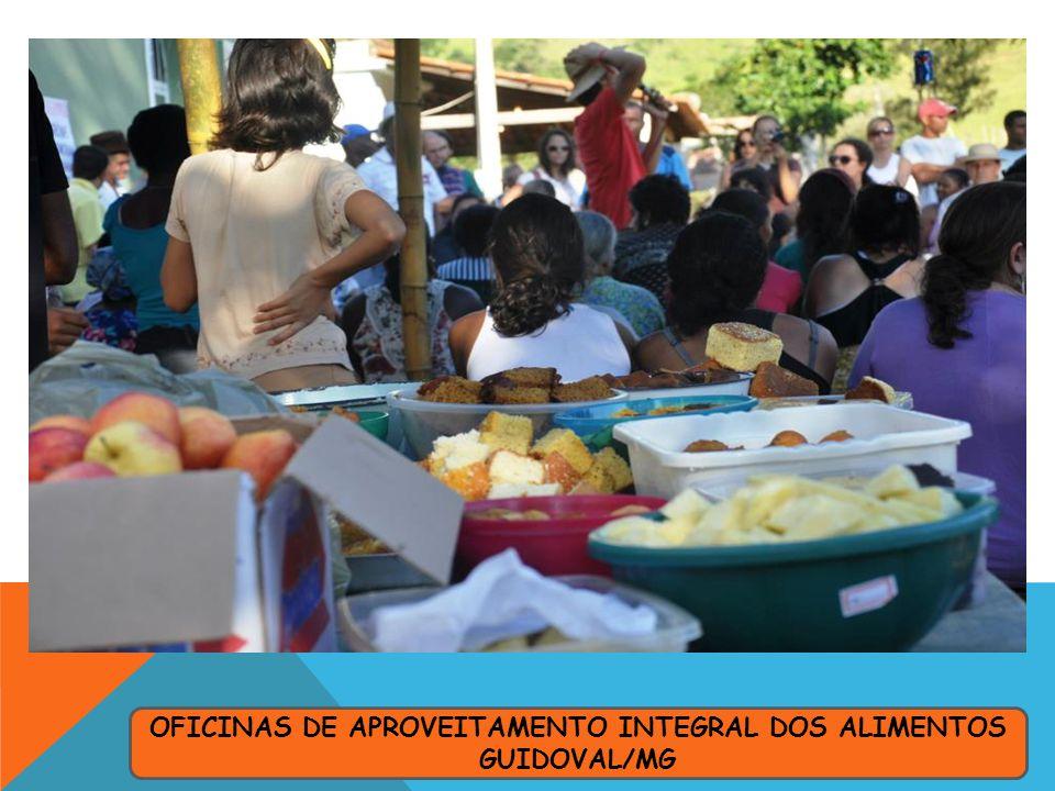 OFICINAS DE APROVEITAMENTO INTEGRAL DOS ALIMENTOS GUIDOVAL/MG