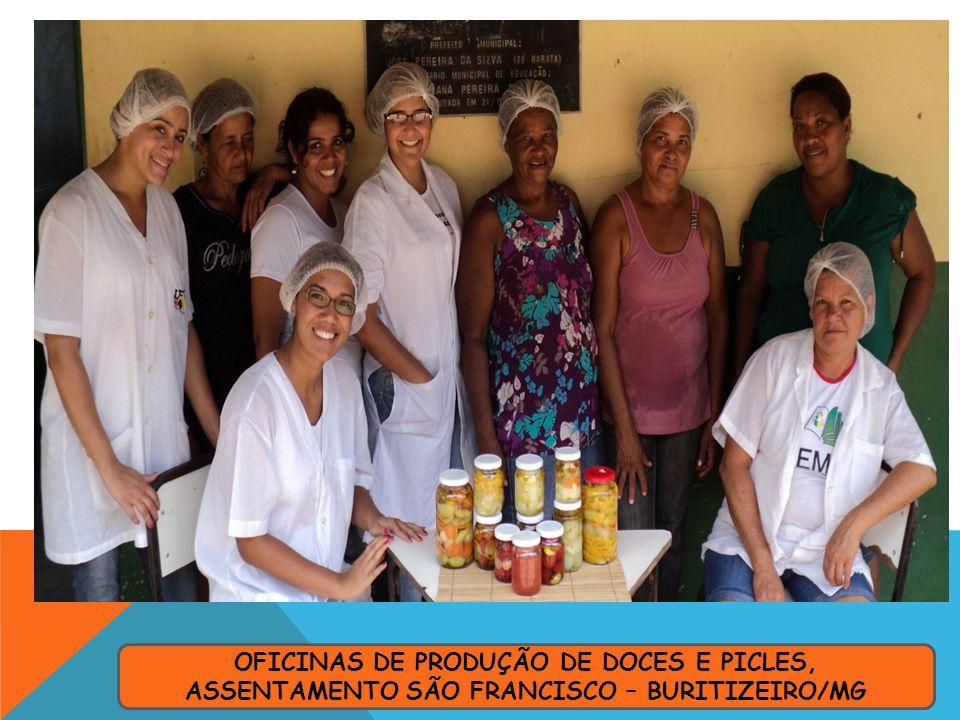 OFICINAS DE PRODUÇÃO DE DOCES E PICLES, ASSENTAMENTO SÃO FRANCISCO – BURITIZEIRO/MG