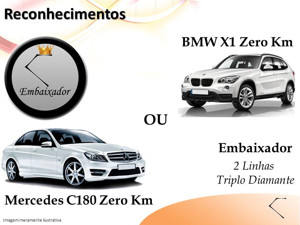 OU Imagem meramente ilustrativa BMW X1 Zero Km Mercedes C180 Zero Km Embaixador 2 Linhas Triplo Diamante Reconhecimentos