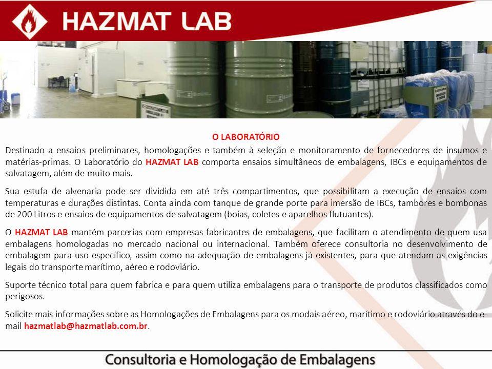 O LABORATÓRIO Destinado a ensaios preliminares, homologações e também à seleção e monitoramento de fornecedores de insumos e matérias-primas. O Labora