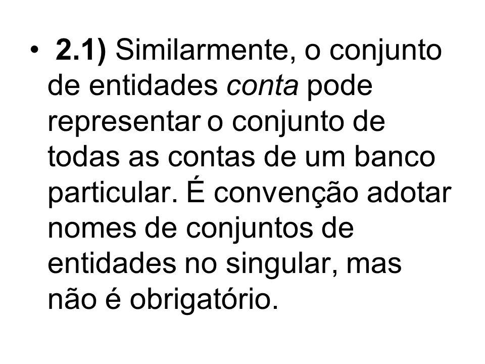 3) Conjuntos de entidades não precisam ser disjuntos.