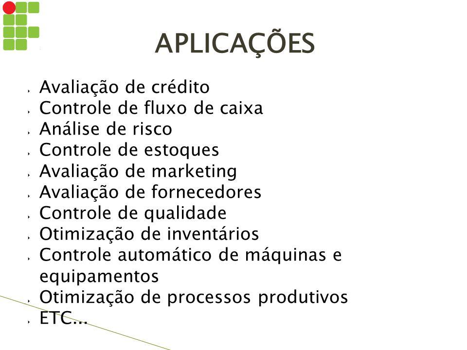  Avaliação de crédito  Controle de fluxo de caixa  Análise de risco  Controle de estoques  Avaliação de marketing  Avaliação de fornecedores  C