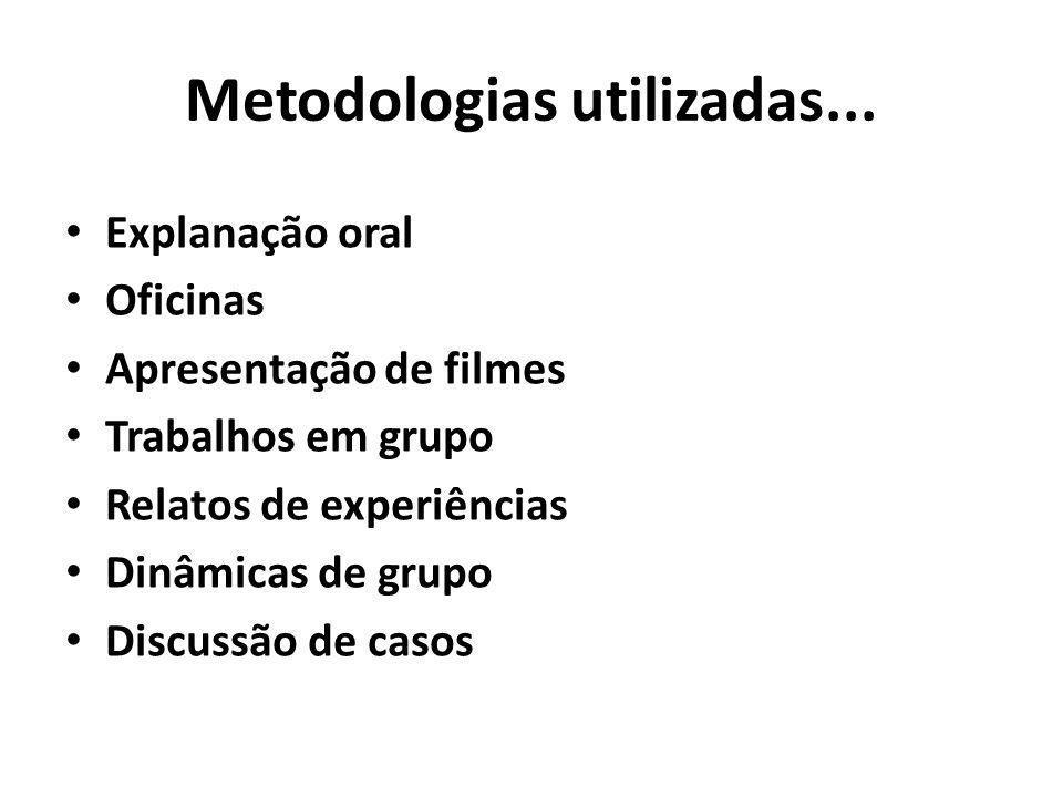 Metodologias utilizadas...