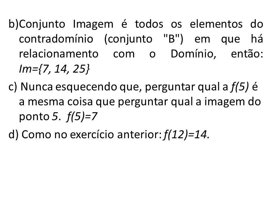 3)Dado o esquema abaixo, representando uma função de