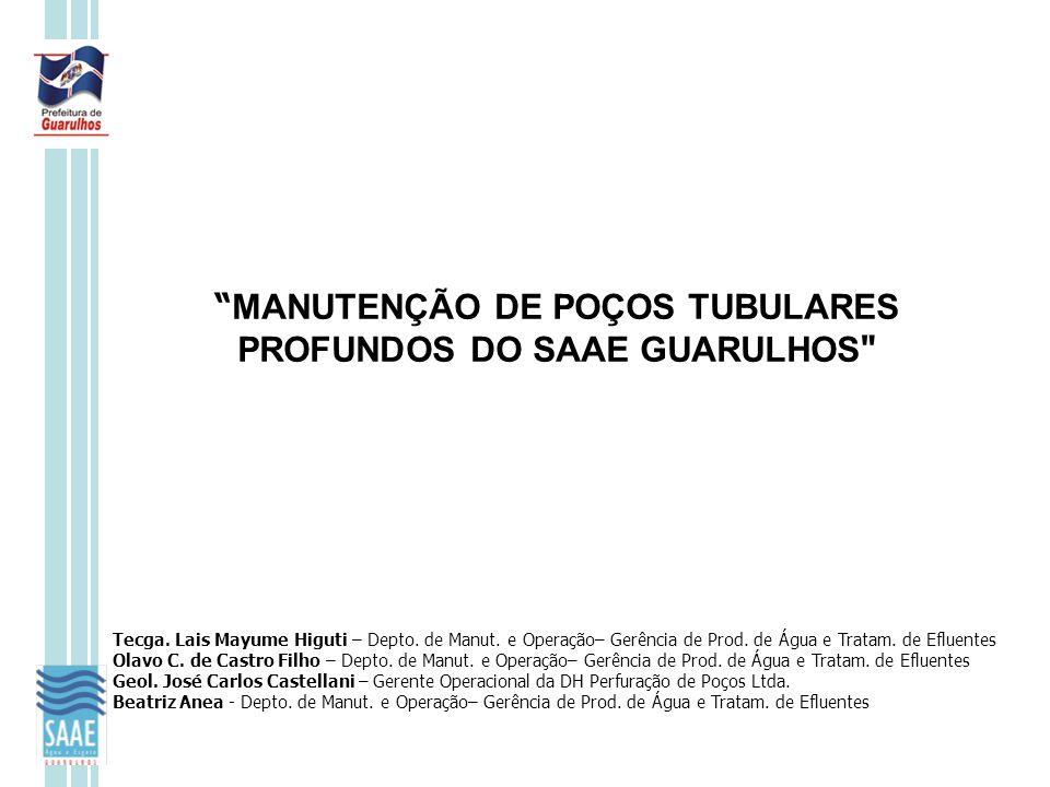 """"""" MANUTENÇÃO DE POÇOS TUBULARES PROFUNDOS DO SAAE GUARULHOS"""
