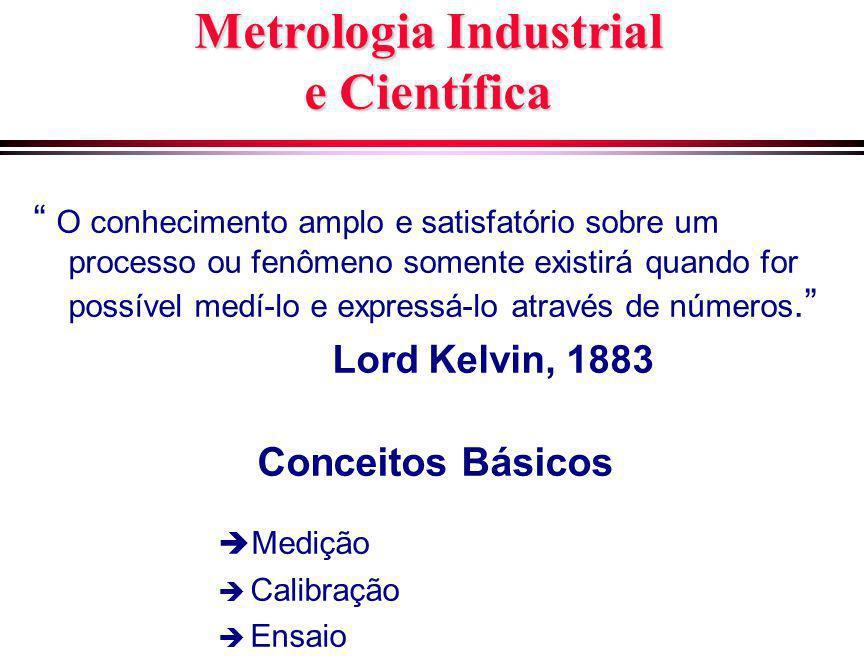 """Metrologia Industrial e Científica """" O conhecimento amplo e satisfatório sobre um processo ou fenômeno somente existirá quando for possível medí-lo e"""