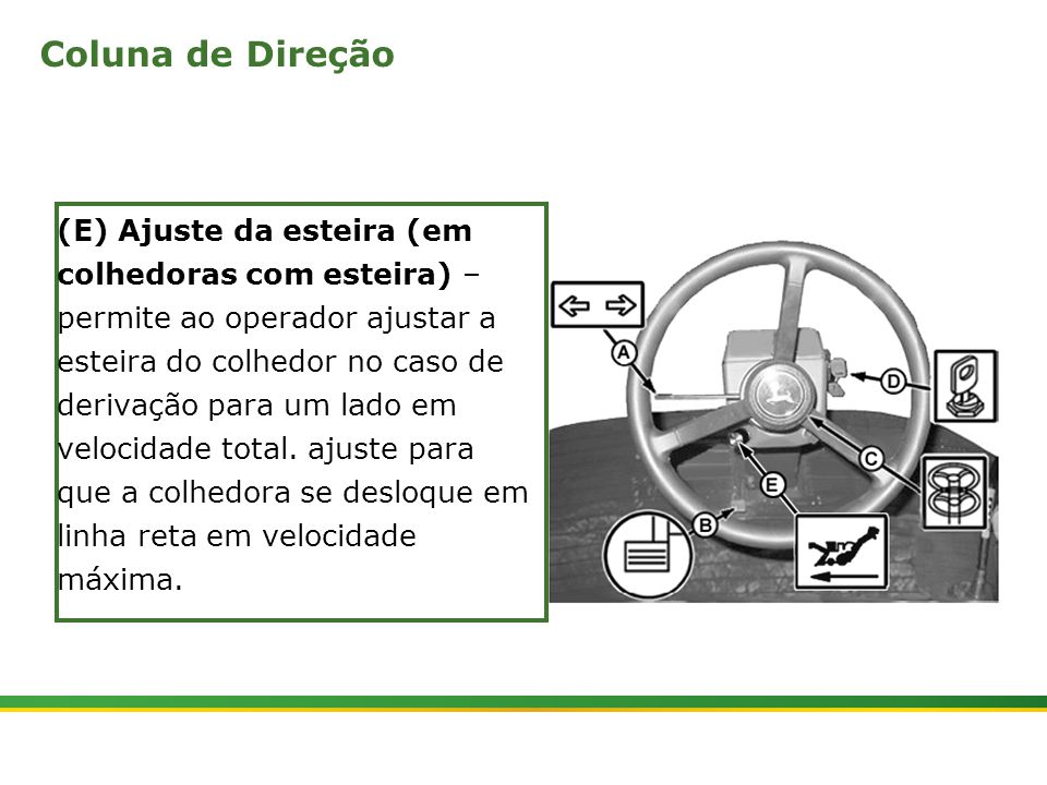 |Colhedora de Cana 3520 & 3522 : Gemini | Janeiro, 20104 Pedais de Controle da Cabina da Colhedora com Rodas (A) e (b) – pedais de giro do elevador – o elevador precisa estar todo erguido antes de se efetuar o giro.