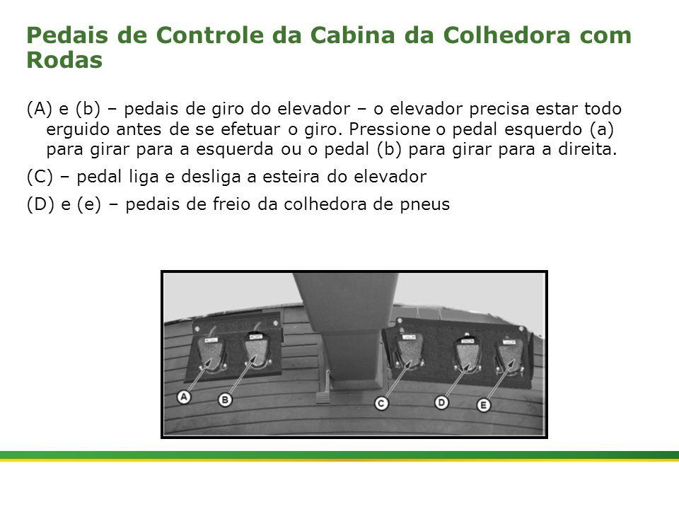 |Colhedora de Cana 3520 & 3522 : Gemini | Janeiro, 20104 Pedais de Controle da Cabina da Colhedora com Rodas (A) e (b) – pedais de giro do elevador –
