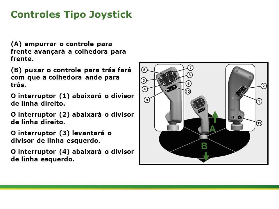 |Colhedora de Cana 3520 & 3522 : Gemini | Janeiro, 20106 A B Controles Tipo Joystick (A) empurrar o controle para frente avançará a colhedora para fre