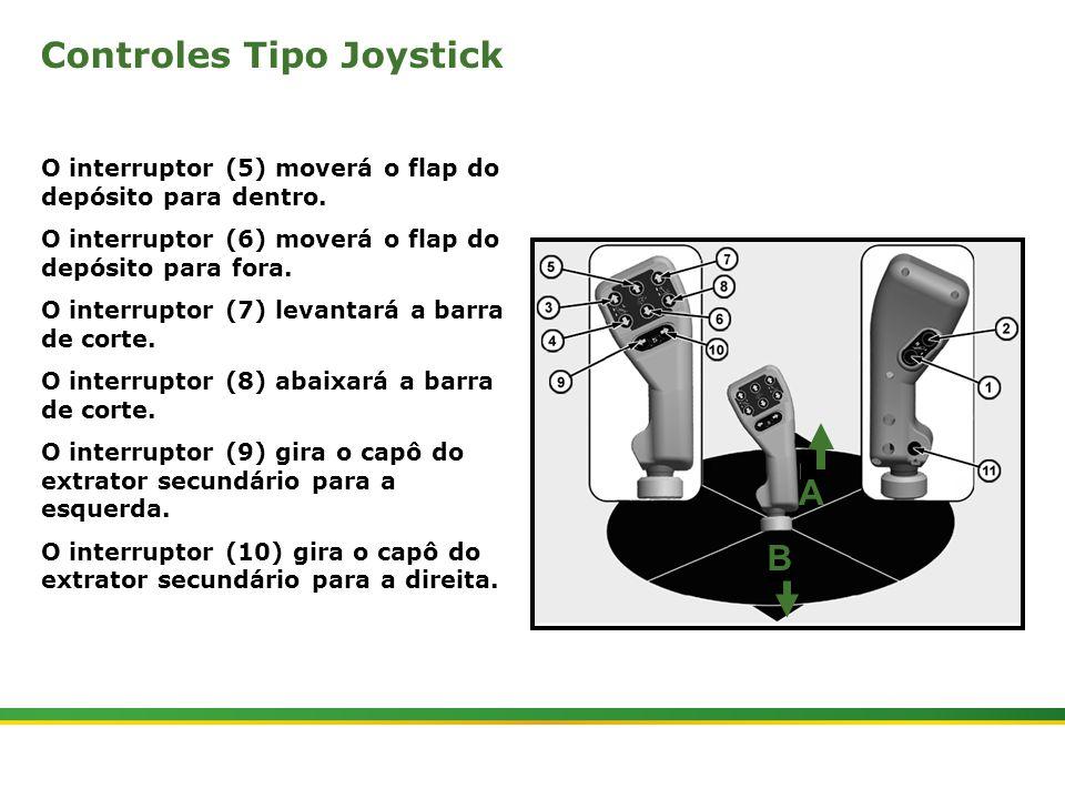 |Colhedora de Cana 3520 & 3522 : Gemini | Janeiro, 20107 Controles Tipo Joystick O interruptor (5) moverá o flap do depósito para dentro. O interrupto