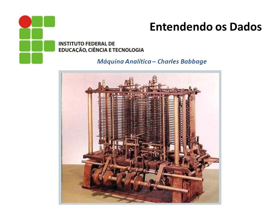 Máquina Analítica – Charles Babbage Entendendo os Dados