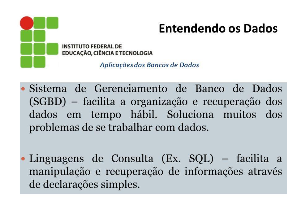 Aplicações dos Bancos de Dados Entendendo os Dados