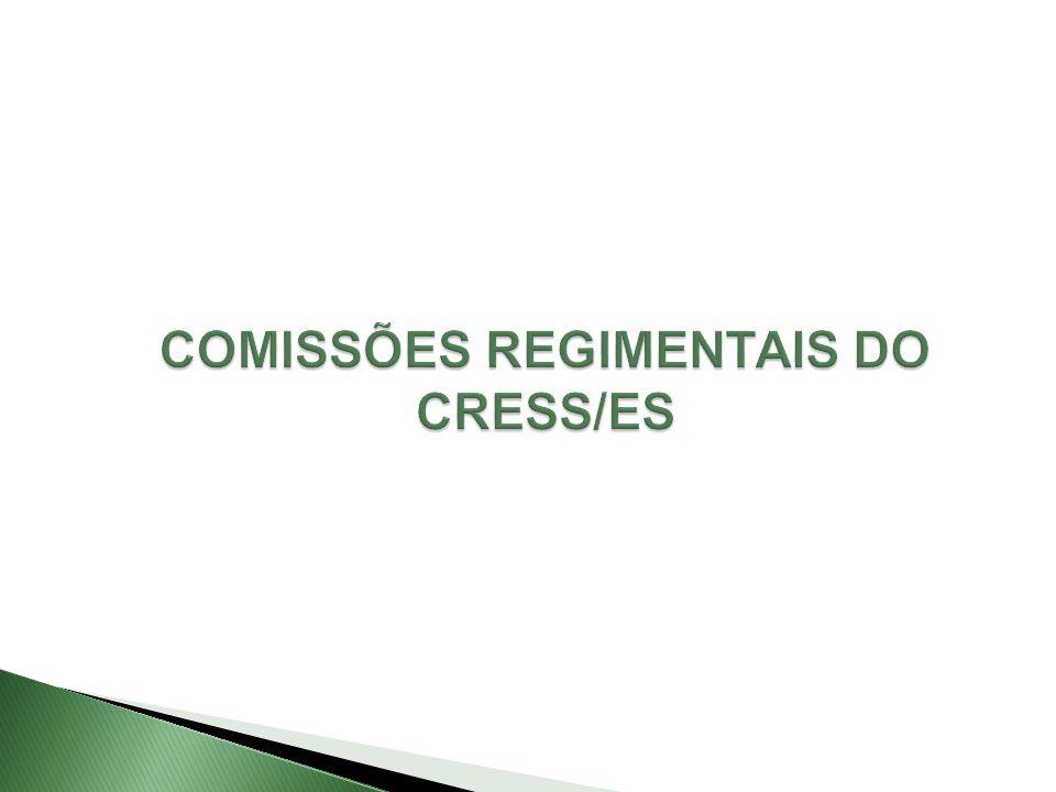 1) Comissão Permanente de Ética: Data: Quarta sexta-feira do mês Local: CRESS Horário: 18h 2) Comissão de Orientação e Fiscalização (COFI): Data: Quinzenalmente as segundas-feiras.