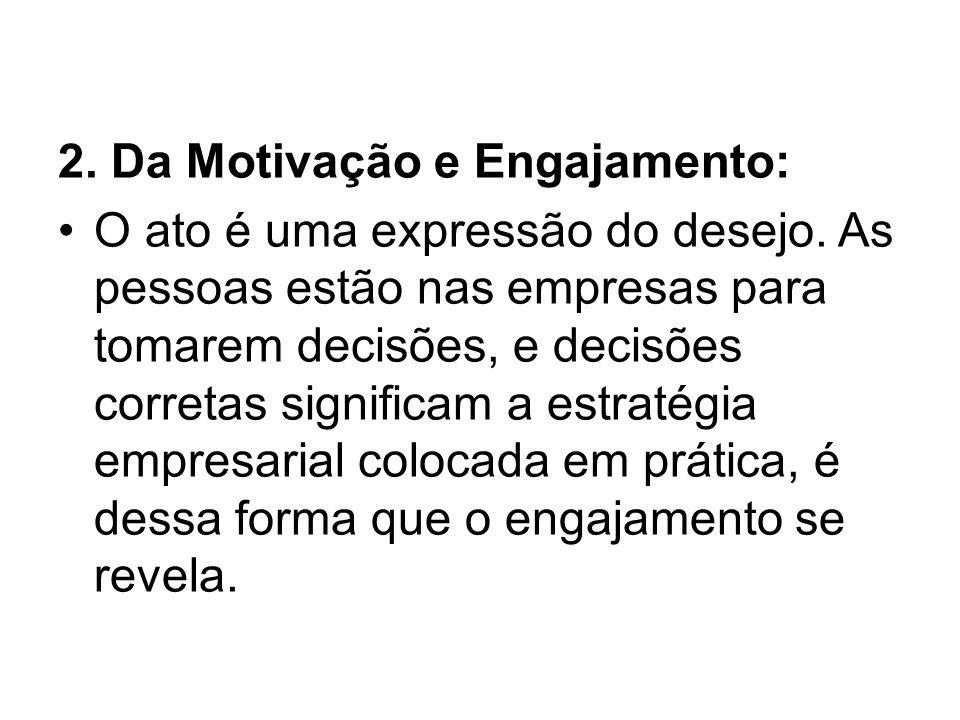 2.Da Motivação e Engajamento: O ato é uma expressão do desejo.