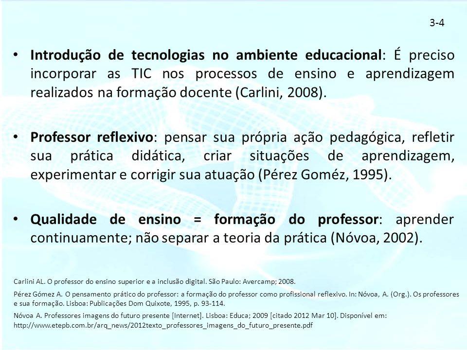 Introdução de tecnologias no ambiente educacional: É preciso incorporar as TIC nos processos de ensino e aprendizagem realizados na formação docente (