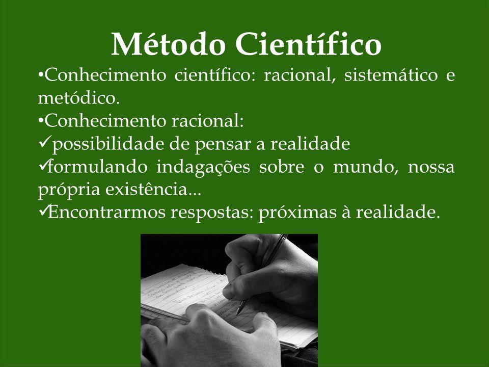Método Científico Razão: Razão humana Razão divina Razão individual Razão universal O homem é racional: é inteligível, passível de ser entendido.