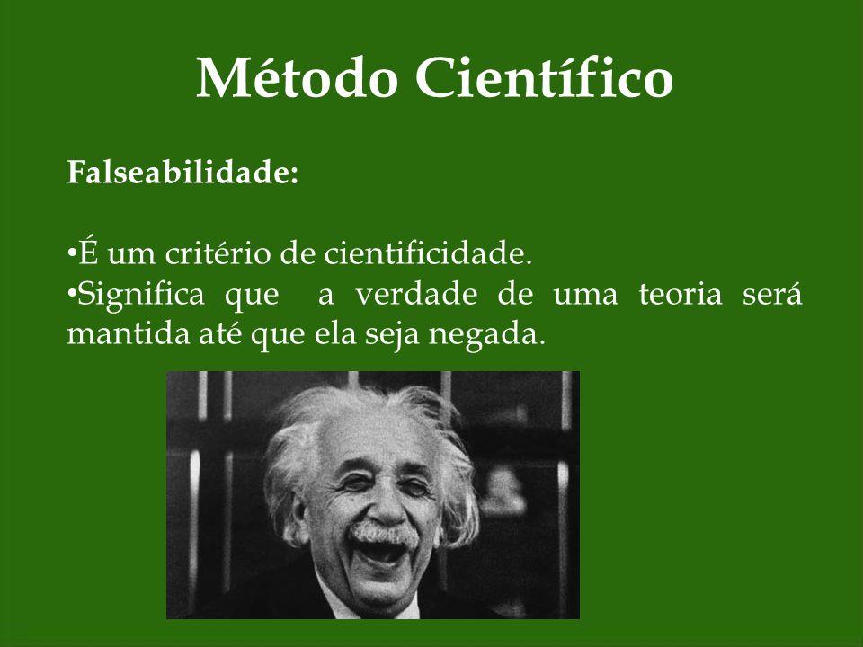 Falseabilidade: É um critério de cientificidade. Significa que a verdade de uma teoria será mantida até que ela seja negada.