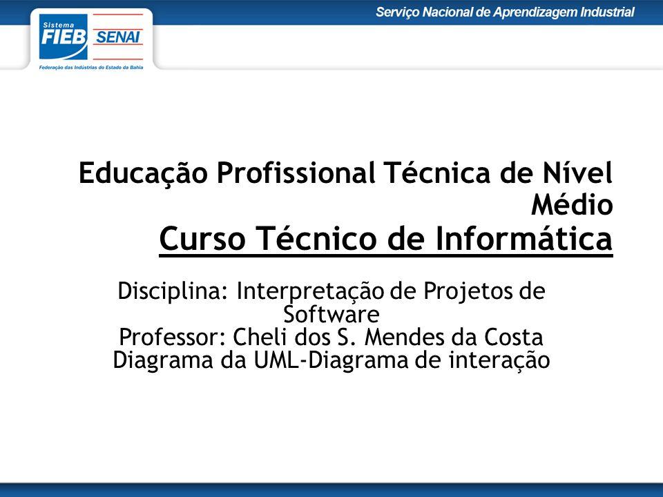 Educação Profissional Técnica de Nível Médio Curso Técnico de Informática Disciplina: Interpretação de Projetos de Software Professor: Cheli dos S.