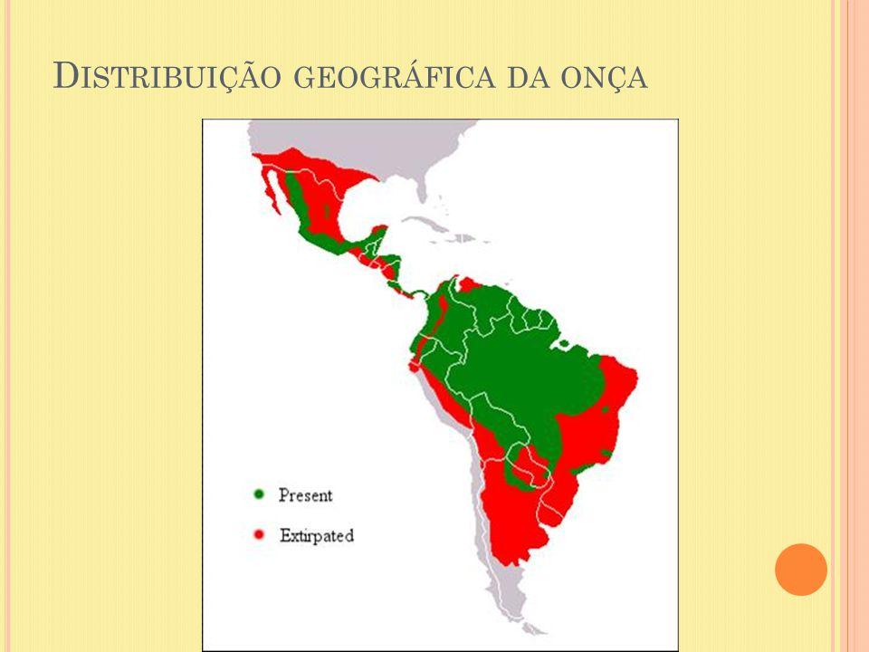 D ISTRIBUIÇÃO GEOGRÁFICA DA ONÇA
