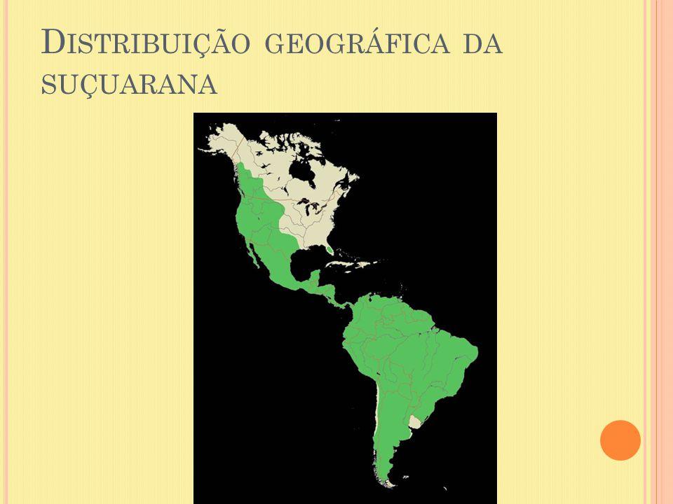 D ISTRIBUIÇÃO GEOGRÁFICA DA SUÇUARANA