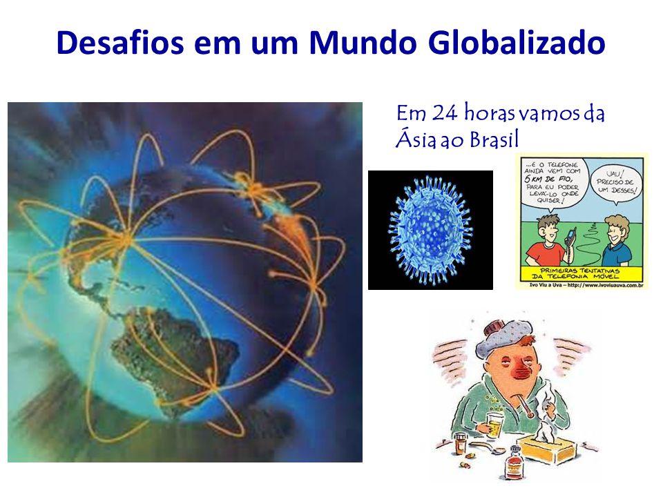 Desafios em um Mundo Globalizado Em 24 horas vamos da Ásia ao Brasil