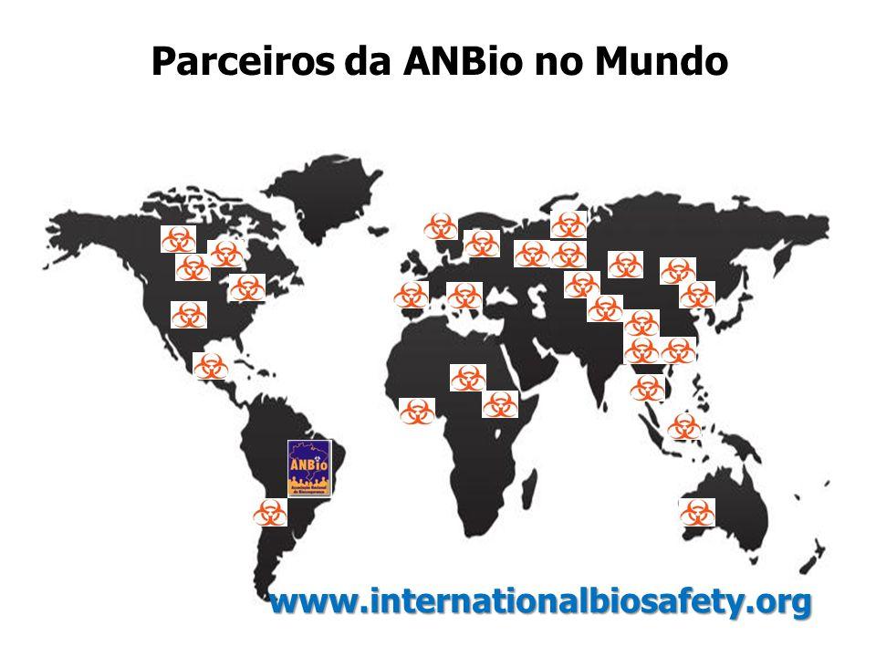 Parceiros da ANBio no Mundo www.internationalbiosafety.org