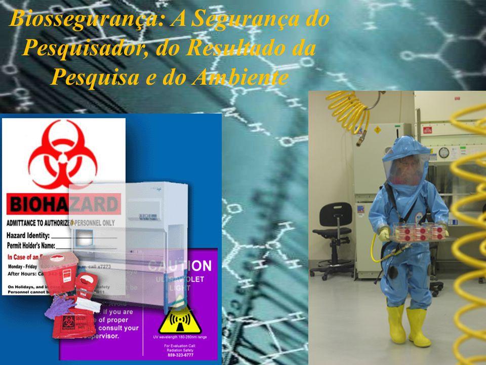 A Biossegurança é uma área de conhecimento nova na América Latina A primeira sociedade científica criada para apoiar as ações de Biossegurança (análise de risco) foi criada há mais de 60 anos- ABSA- risco biológico O primeiro manual de Biossegurança data da década de 80 (CDC).