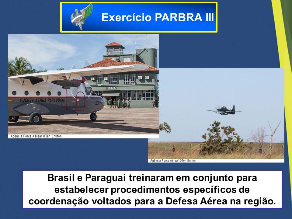 Brasil e Paraguai treinaram em conjunto para estabelecer procedimentos específicos de coordenação voltados para a Defesa Aérea na região. Exercício PA
