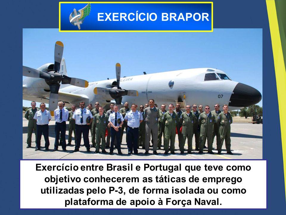 Exercício entre Brasil e Portugal que teve como objetivo conhecerem as táticas de emprego utilizadas pelo P-3, de forma isolada ou como plataforma de
