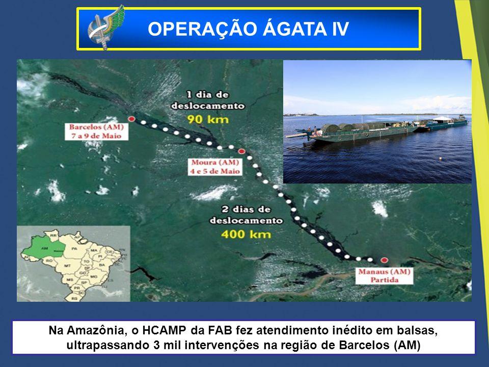 Na Amazônia, o HCAMP da FAB fez atendimento inédito em balsas, ultrapassando 3 mil intervenções na região de Barcelos (AM) OPERAÇÃO ÁGATA IV