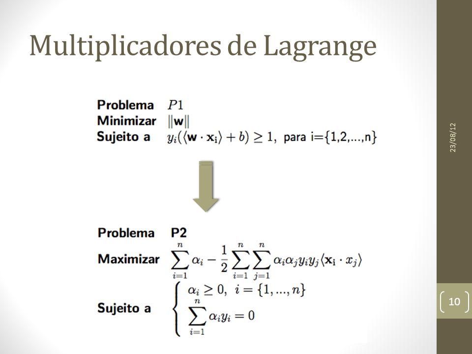 Multiplicadores de Lagrange 23/08/12 10