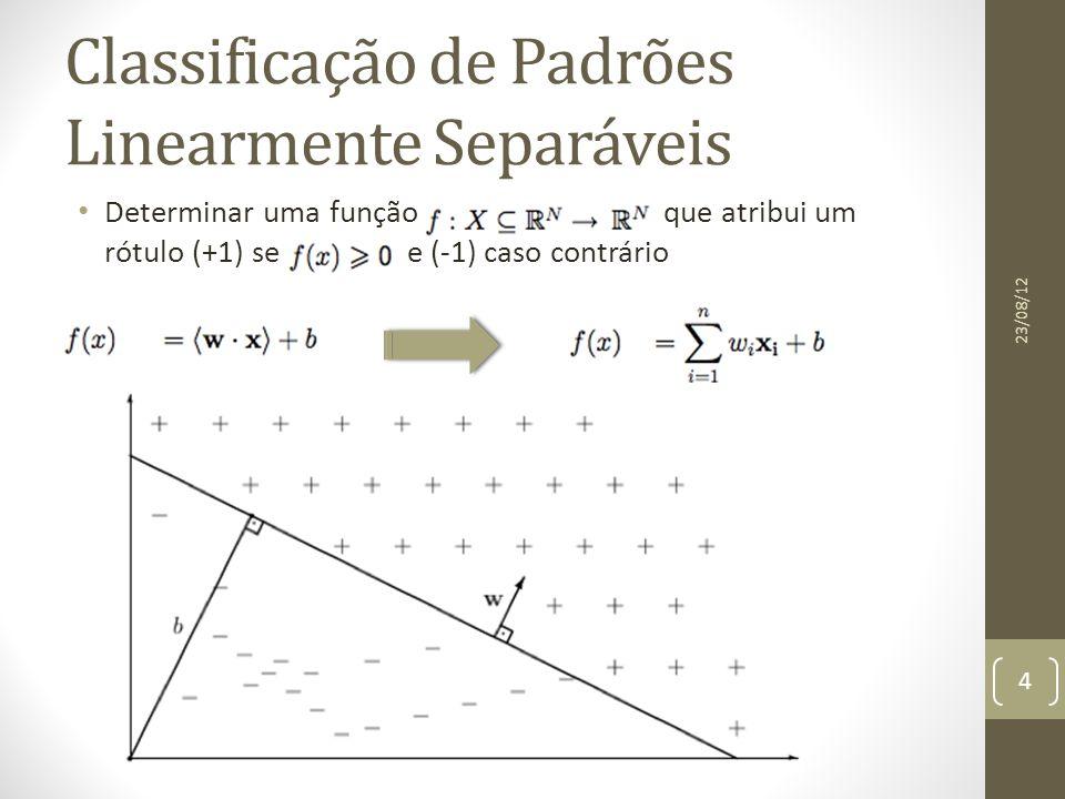 Classificação Multiclasses – DAGSVM 23/08/12 15