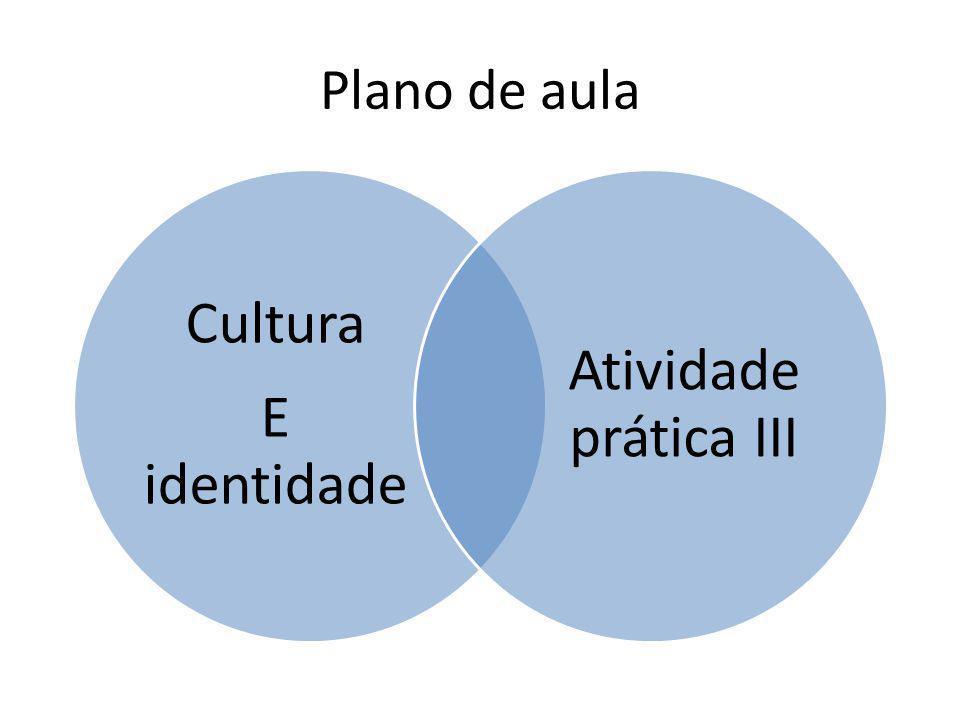 Plano de aula Cultura E identidade Atividade prática III