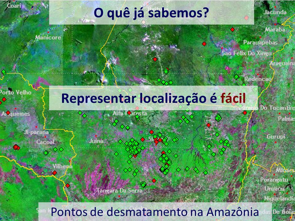 Representar localização é fácil Pontos de desmatamento na Amazônia O quê já sabemos