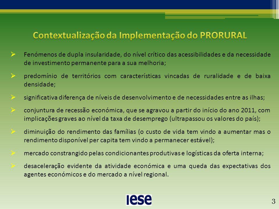  Fenómenos de dupla insularidade, do nível crítico das acessibilidades e da necessidade de investimento permanente para a sua melhoria;  predomínio