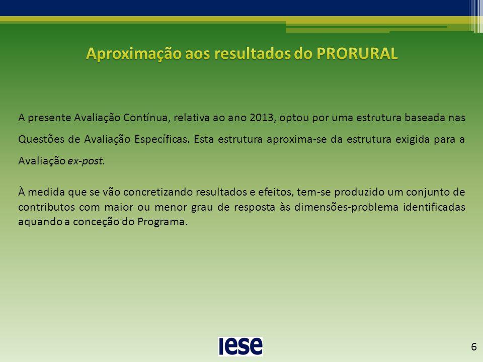 A presente Avaliação Contínua, relativa ao ano 2013, optou por uma estrutura baseada nas Questões de Avaliação Específicas. Esta estrutura aproxima-se