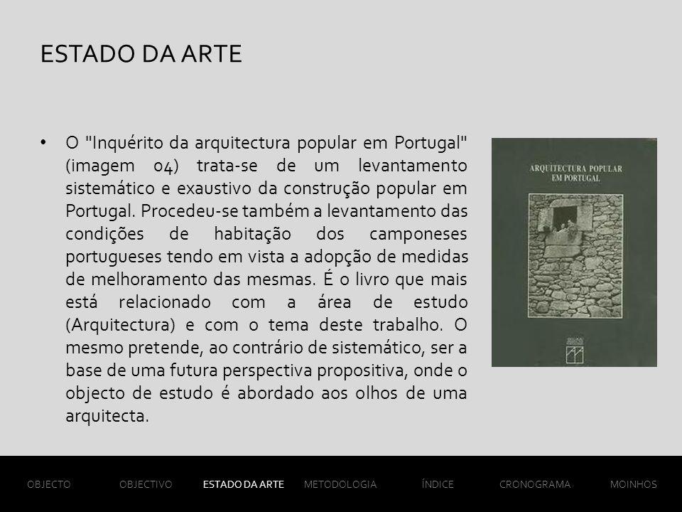 ESTADO DA ARTE O Inquérito da arquitectura popular em Portugal (imagem 04) trata-se de um levantamento sistemático e exaustivo da construção popular em Portugal.