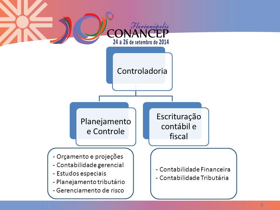 5 Controladoria Planejamento e Controle Escrituração contábil e fiscal - Orçamento e projeções - Contabilidade gerencial - Estudos especiais - Planeja