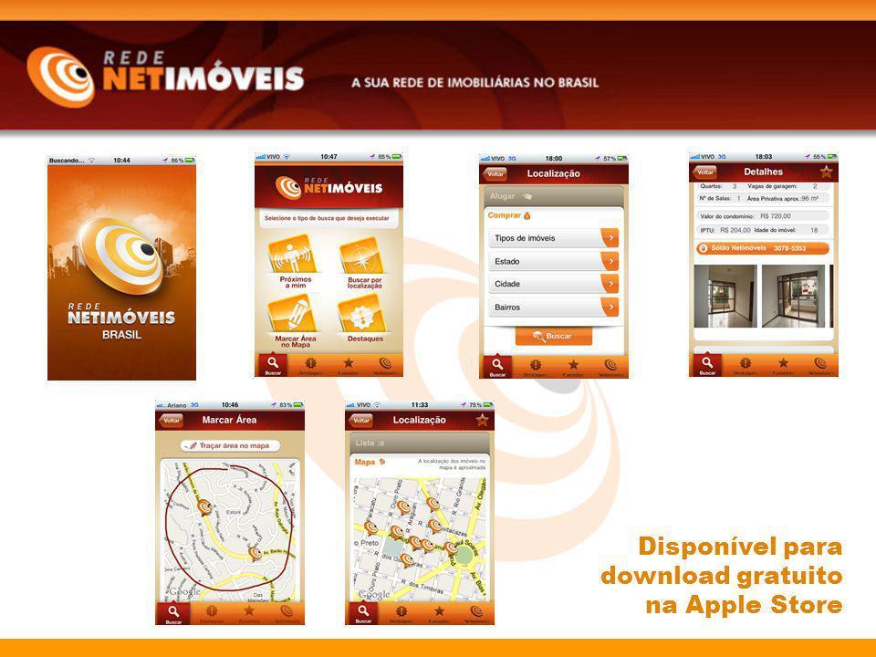 Disponível para download gratuito na Apple Store