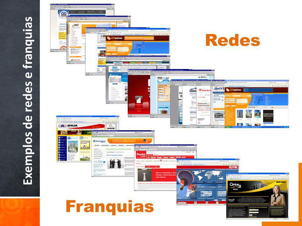 Exemplos de redes e franquias Redes Franquias