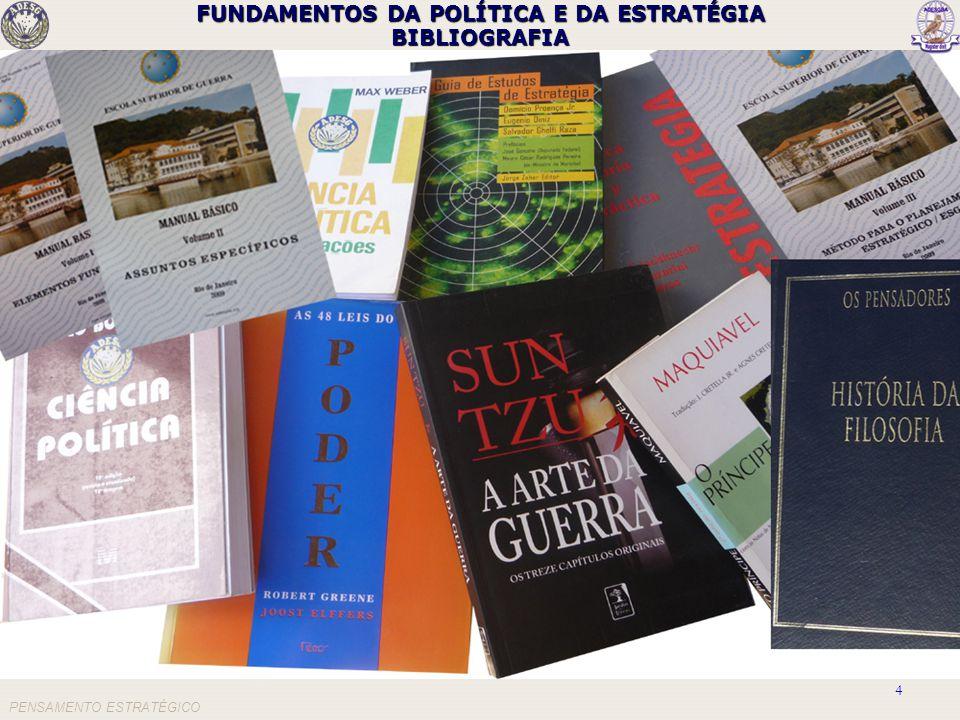 FUNDAMENTOS DA POLÍTICA E DA ESTRATÉGIA BIBLIOGRAFIA PENSAMENTO ESTRATÉGICO 4