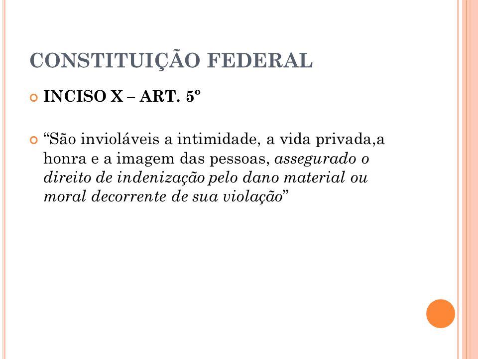 CONSTITUIÇÃO FEDERAL INCISO X – ART.