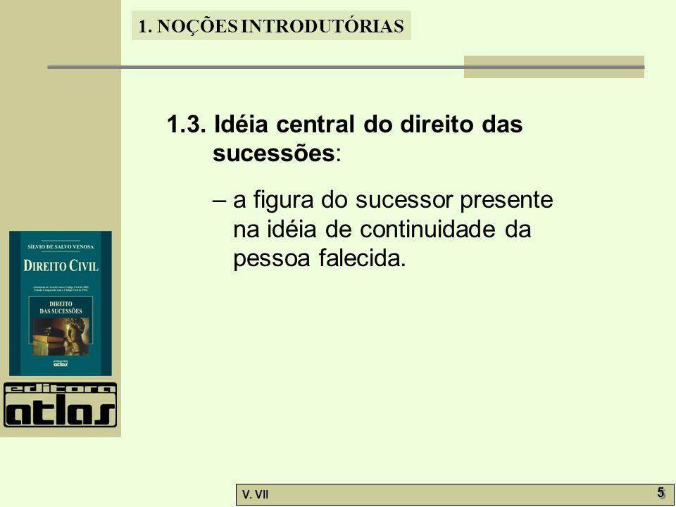 1.NOÇÕES INTRODUTÓRIAS V. VII 5 5 1.3.