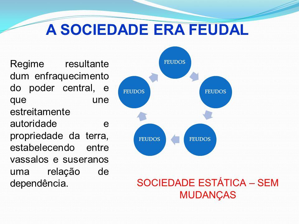 A SOCIEDADE ERA FEUDAL FEUDOS Regime resultante dum enfraquecimento do poder central, e que une estreitamente autoridade e propriedade da terra, estab