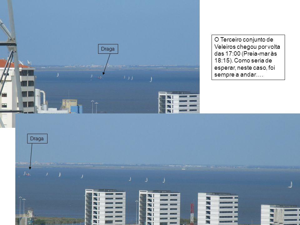 O Terceiro conjunto de Veleiros chegou por volta das 17:00 (Preia-mar às 18:15).