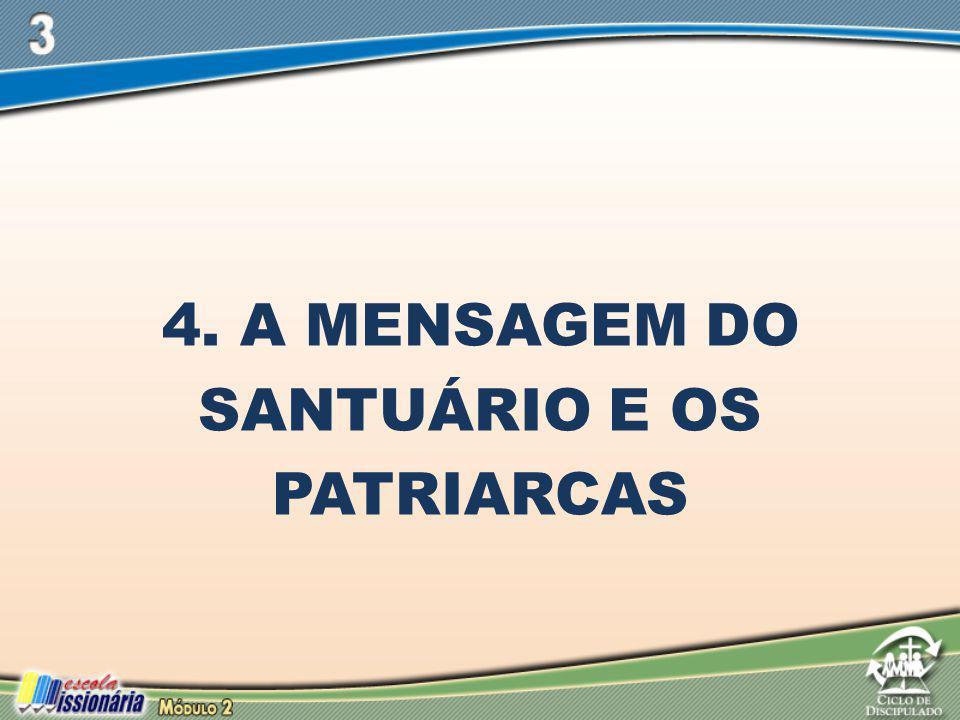 4. A MENSAGEM DO SANTUÁRIO E OS PATRIARCAS